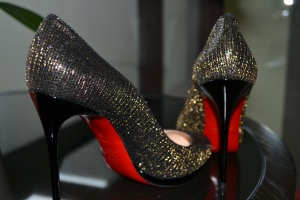 Glittering shoes!