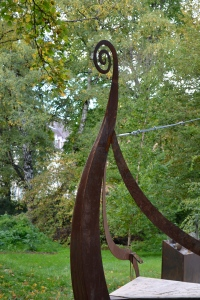 Viking ship in the Botanical Garden in Oslo