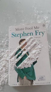 "My own version of advertisement for ""More Fool Me"" by Stephen Fry. PS. It is only powdered sugar, not coke...."